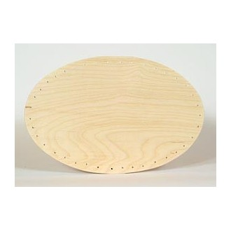 Drilled Base - 8 inch x 12 inch Oval