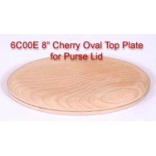 8 inch Cherry Oval Top Plate for Purse Lid