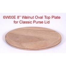 8 inch Walnut Oval Top Plate for Purse