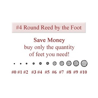 per foot - No. 4 Round Reed - sold by the foot