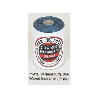 Williamsburg Blue Waxed Linen 4-PLY by the yard