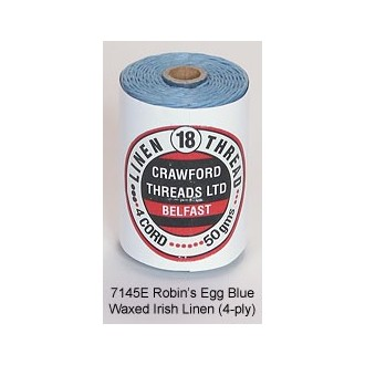 Robin's Egg Blue Waxed Linen 4-ply by the yard