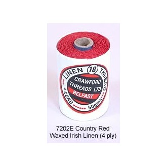 Country Red-Waxed Irish Linen 4-ply by the yard