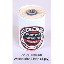 Natural-Waxed Irish Linen 4-ply by the yard LIMITED
