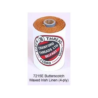 Butterscotch-Waxed Irish Linen 4-ply by the yard