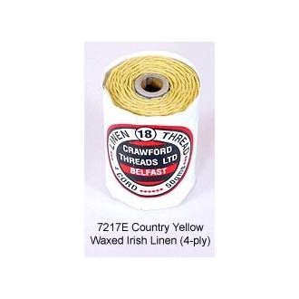 Country Yellow-Waxed Irish Linen 4-ply by the yard
