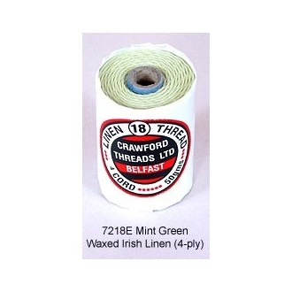 Mint Green-Waxed Irish Linen 4-ply by the yard