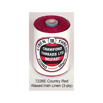 3-PLY Country Red Waxed Linen by the yard