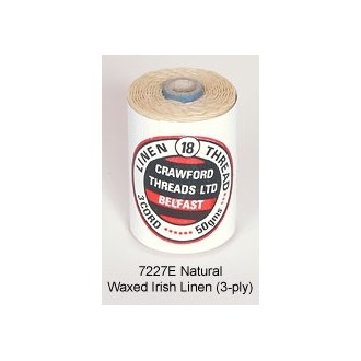 3-PLY Natural Waxed Linen by the yard LIMITED