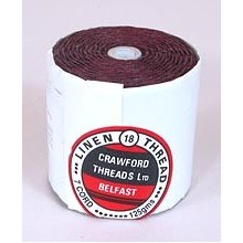 7-ply Maroon Waxed Irish Linen by the yard