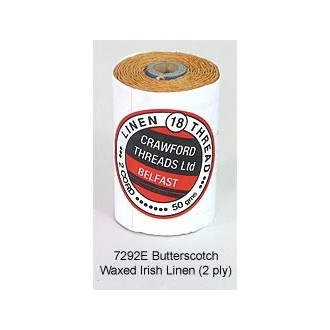 Butterscotch-Waxed Irish Linen 2-ply by the yard