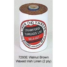Walnut Brown-Waxed Irish Linen 2-ply by the yard