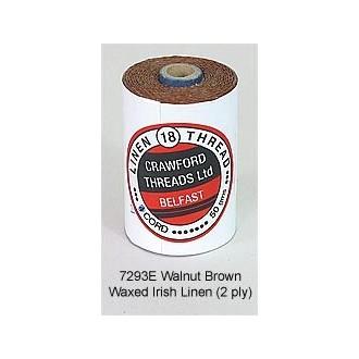 Walnut Brown-Waxed Irish Linen 2-ply by the yard