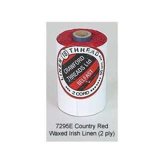 Country Red-Waxed Irish Linen 2-ply by the yard