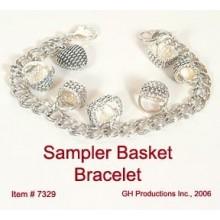 Silver Sampler Basket Bracelet