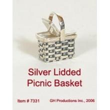 Lidded Picnic Basket Sterling Silver