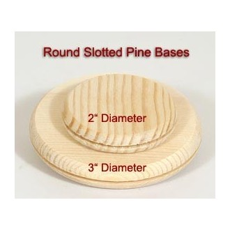 3 inch Round Slotted Base