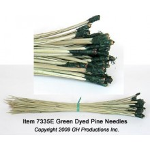 Green Dyed Pine Needles - 1 oz. bundle