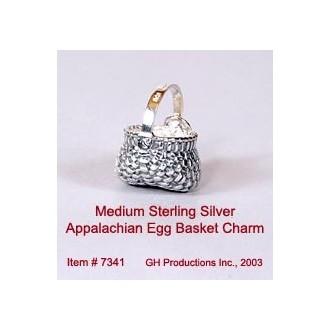 Medium Appalachian Egg Basket Charm Sterling Silver