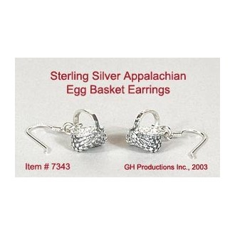 Appalachian Egg Basket Earrings Sterling Silver