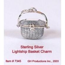Lightship Basket Charm Sterling Silver
