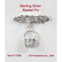 Basket Pin Sterling Silver