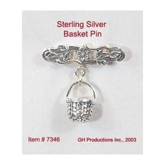 Basket Pin Sterling Silver