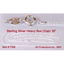 Heavy Box Chain - Sterling Silver