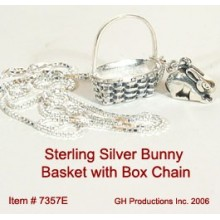Bunny with Chain Sterling Silver