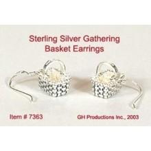 Gathering Basket Earrings Sterling Silver