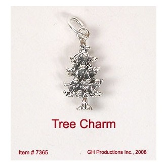 Holiday Tree Charm Sterling Silver