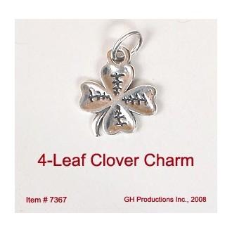 4-leaf Clover Charm Sterling Silver