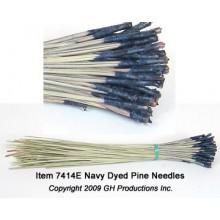 Navy Dyed Pine Needles - 1 oz. bundle