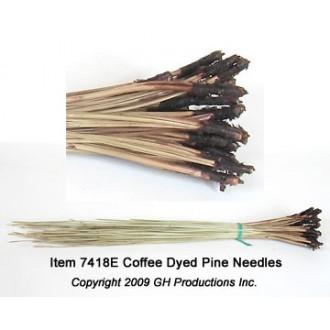 Coffee Dyed Pine Needles - 1 oz. bundle