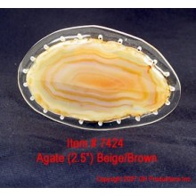 Agate Center - Beige-Brown