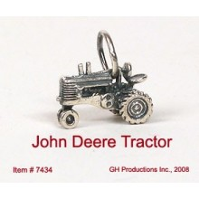 JD Tractor Charm Sterling Silver