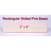 2 inch x 9 inch Rectangular Slotted Base