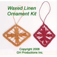 Waxed Linen Ornament Kit - Materials for 2 Ornaments