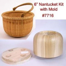 6 inch Nantucket Lightship Basket Kit with Molds TEMPORARILY OUT OF STOCK