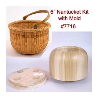 6 inch Nantucket Lightship Basket Kit with Molds