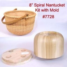8 inch Spiral-weave Nantucket Basket Kit with Mold