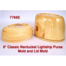 8 inch Classic Nantucket Purse Mold and Lid Mold