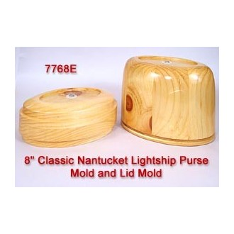 8 inch Classic Nantucket Purse Mold and Lid Mold Temporarily out of Stock
