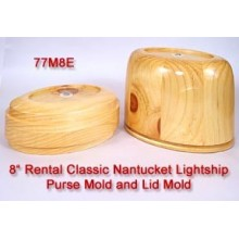 RENTAL 8 inch Classic Oval Nantucket Purse Mold and Lid Mold
