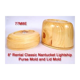 RENTAL 8 inch Classic Oval Nantucket Purse Mold and Lid Mold Temporarily out of Stock