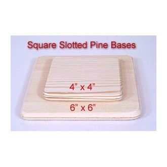 4 inch x 4 inch Square Slotted Base