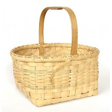 Market Basket with Notched Handle Basket Pattern
