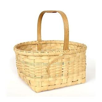 Market Basket with Notched Handle Basket Pattern