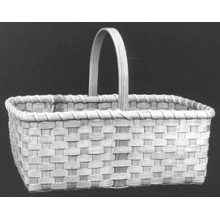 Market Basket with D Handle Basket Pattern