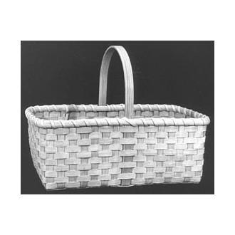 Market Basket with D Handle Basket Pattern